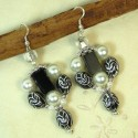 Boucles d'oreilles BLACK AND WHITE